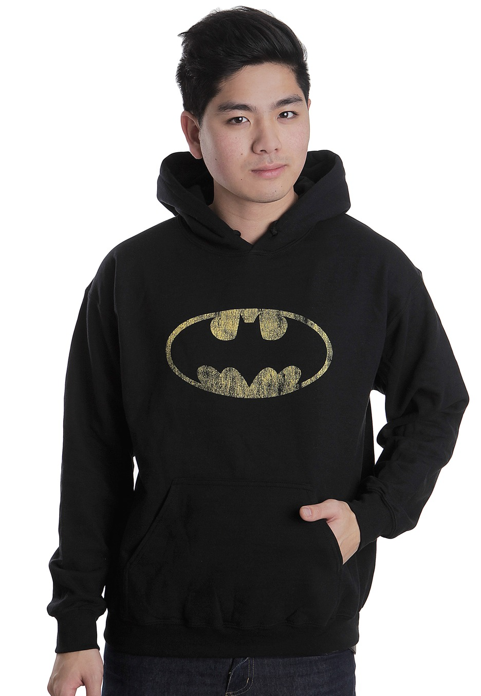 Batman - Distressed Shield - Kapucnis pulóver - Impericon.com HU b89227d59d
