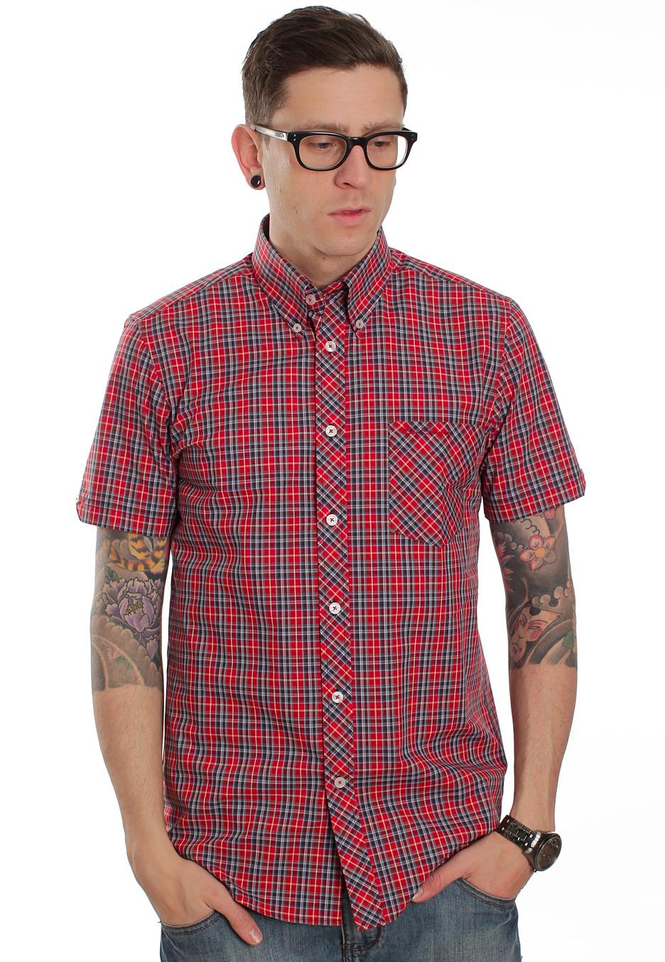 ben sherman covent collar red hemd streetwear shop
