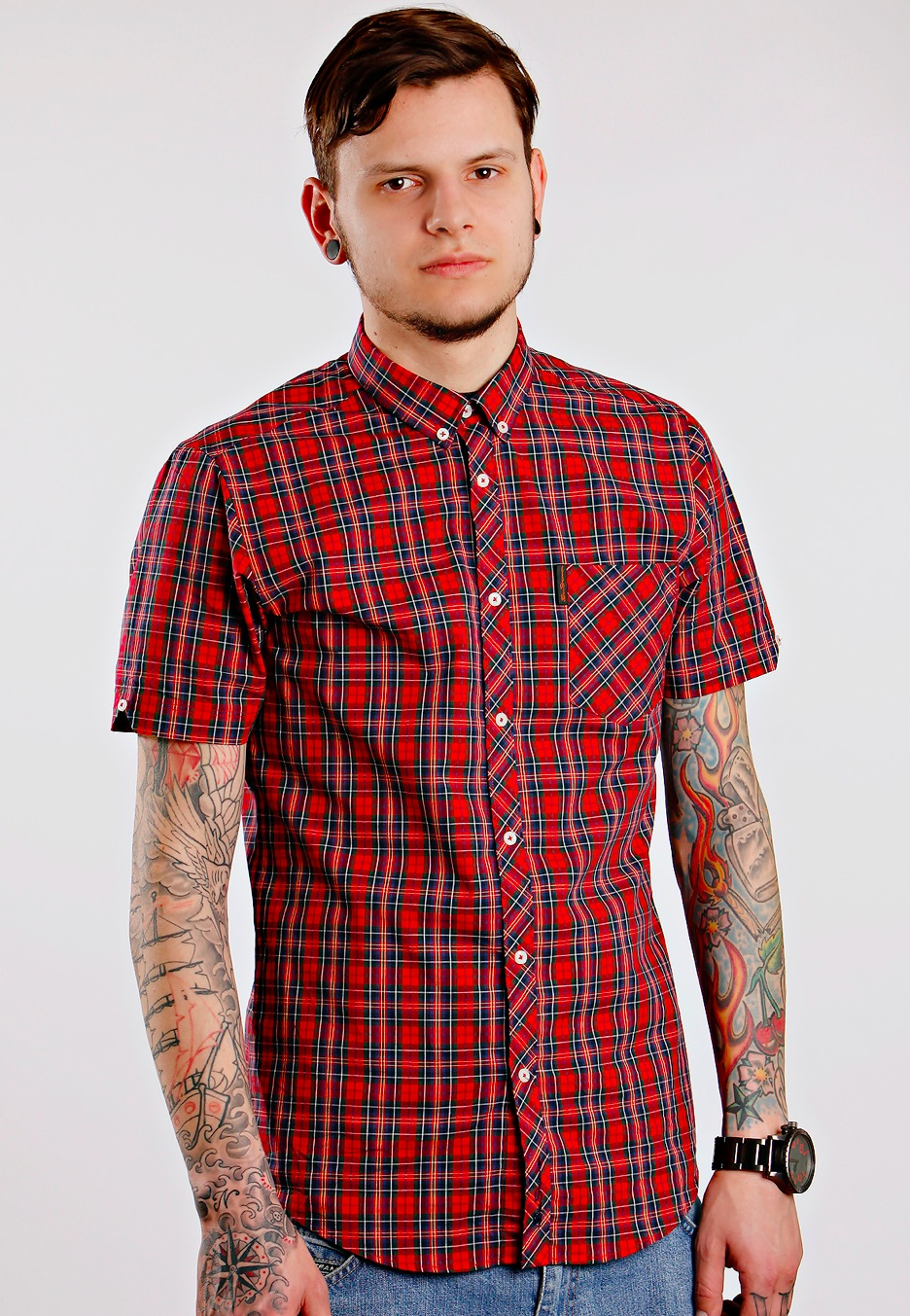 Color Changing Shirts >> Ben Sherman - Shirt S/S Sparkling Red - Shirt - Streetwear ...