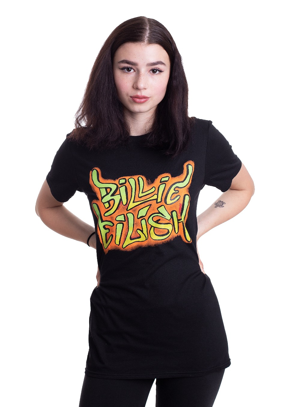 Billie Eilish Graffiti T Shirt Offizielles Pop Merchandise Impericon Com De