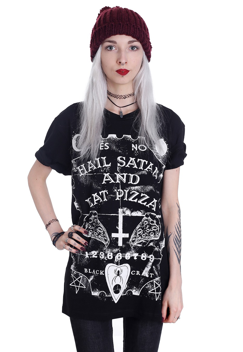 Black Craft Cult - Hail Satan Eat Pizza - T-Shirt - Streetwear Shop - Impericoncom Uk-5233