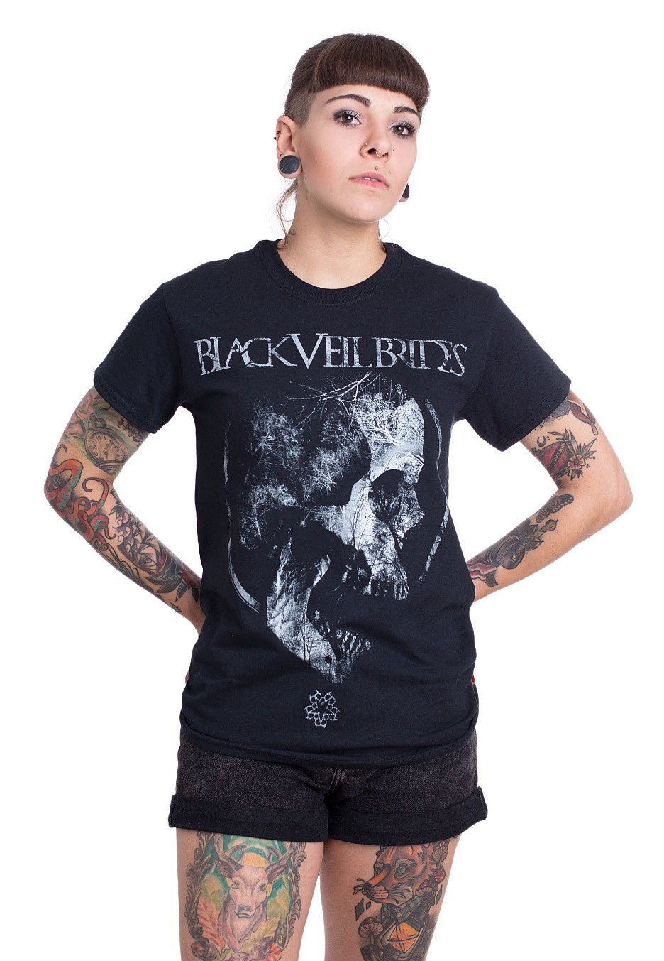 Black Veil Brides Men/'s  Roots T-shirt Black