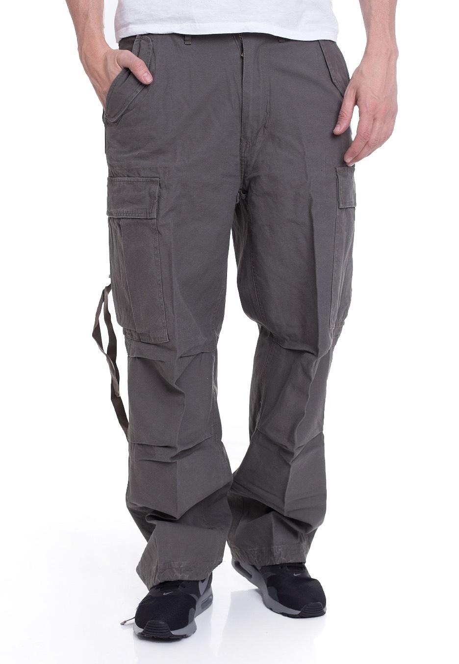 Brandit - M-65 Vintage Oliv - Pants - Streetwear Shop - Impericon.com  Worldwide 3de5493413d