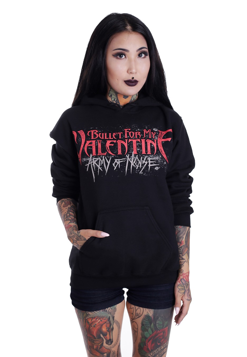 Bullet For My Valentine Army Of Noise Mask Hoodie Impericon Com Uk