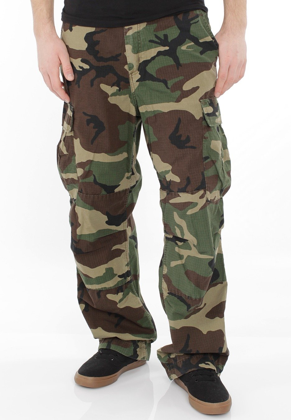 Carhartt WIP - Cargo Columbia Camo Green Stone Washed - Pants ...