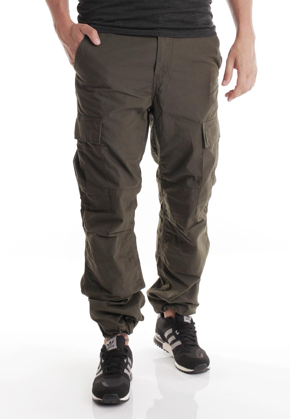Carhartt WIP - Regular Cargo Columbia Ripstop Cypress Rinsed - Pants -  Streetwear Shop - Impericon.com Worldwide 9bb5a0913