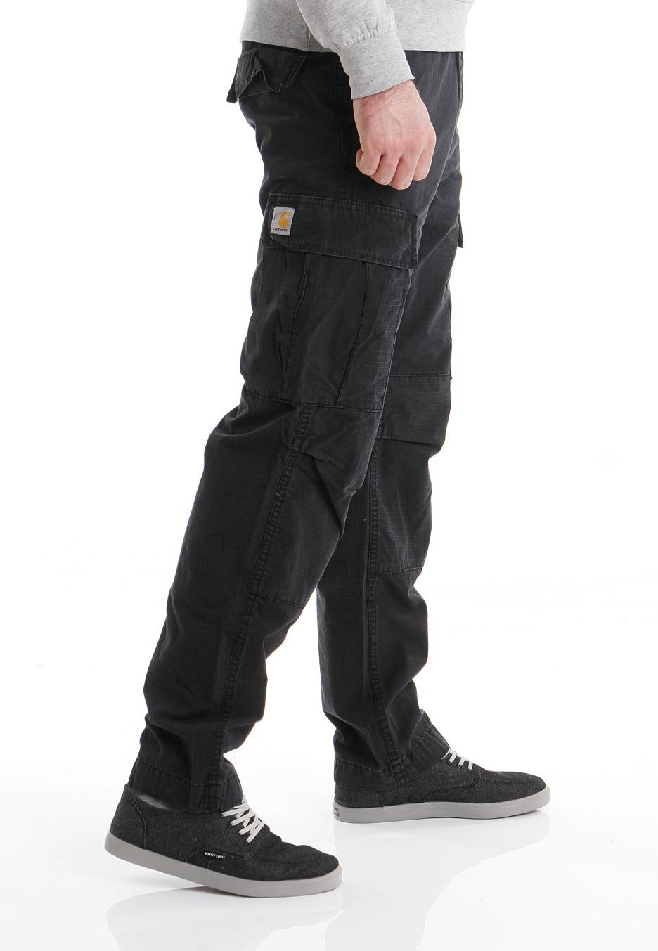 Carhartt WIP - Slim Cargo Columbia Black Stone Washed - Hose - Streetwear Shop - Impericon.com DE