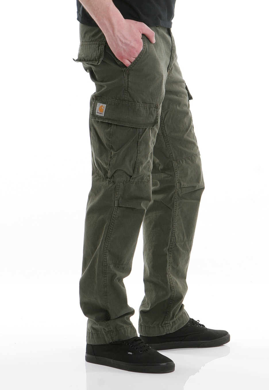 Carhartt WIP - Slim Cargo Columbia Cypress Stone Washed - Byxor - Streetwear Shop - Impericon.com SE