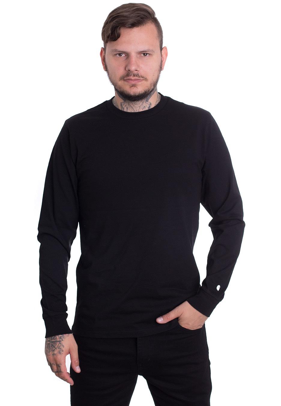 aa8448bf0eb5 Carhartt WIP - Base Black White - Longsleeve - Streetwear Shop -  Impericon.com UK