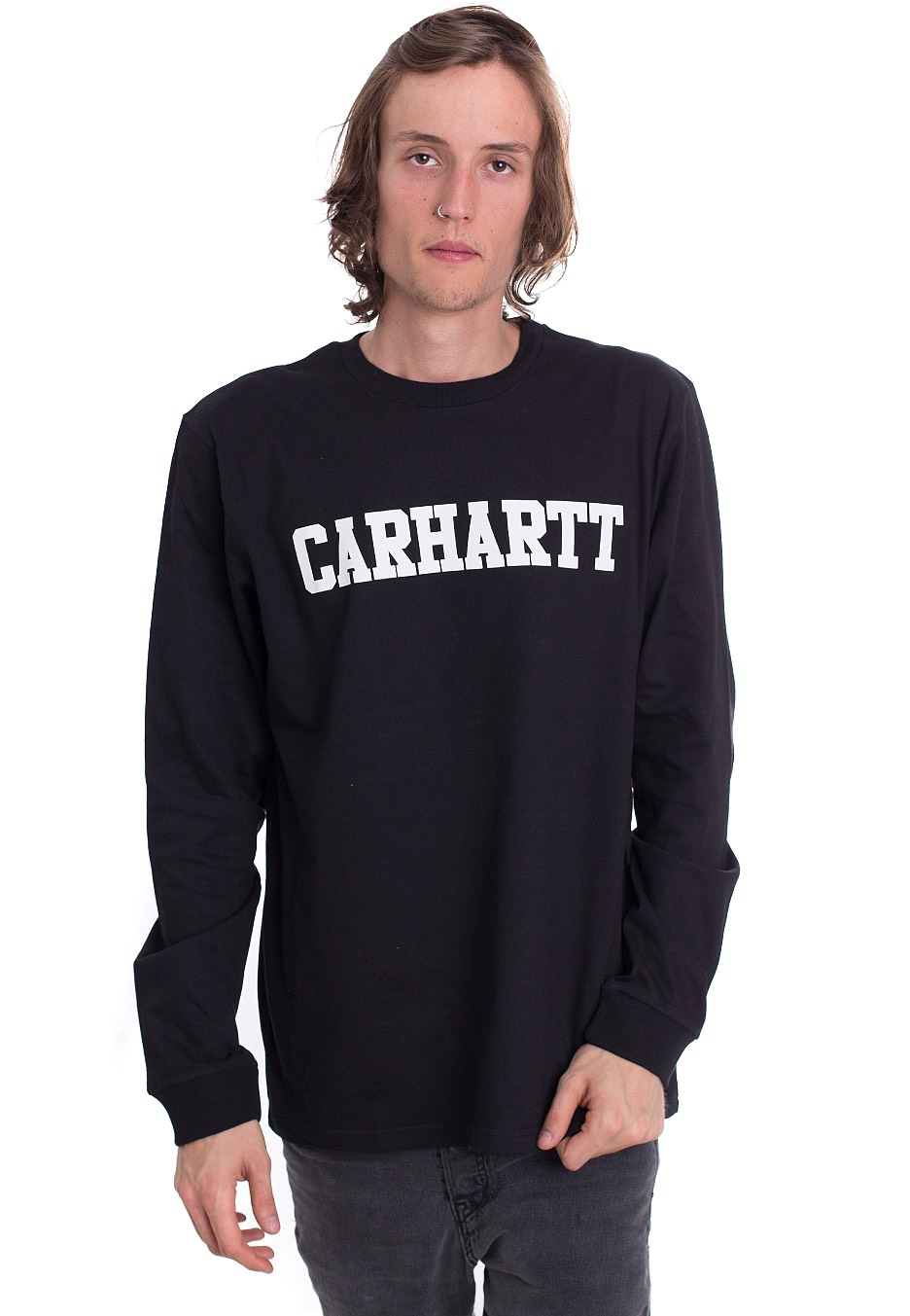 ded08d2e5cb3 Carhartt WIP - College Black/White - Longsleeve - Streetwear Shop -  Impericon.com UK