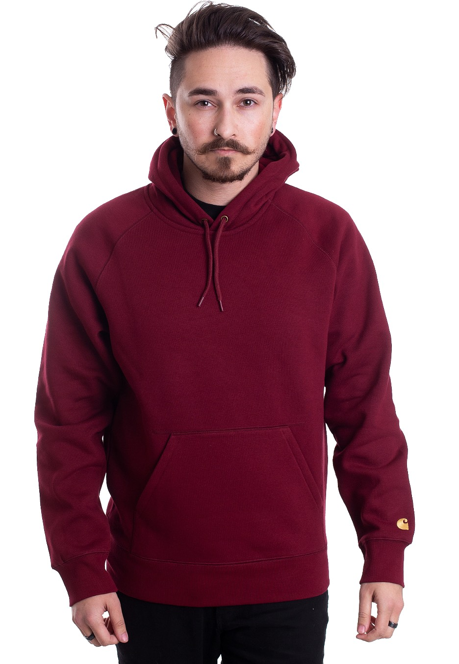 beauty big discount classic Carhartt WIP - Hooded Chase Cranberry/Gold - Hoodie