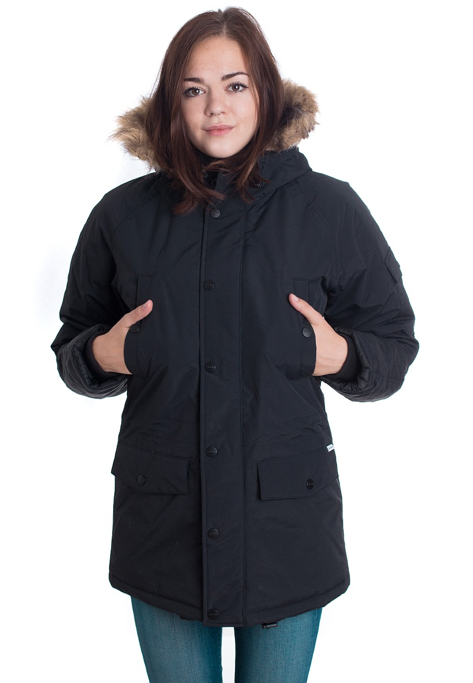 Jacken für Frauen - Carhartt WIP W' Anchorage Parka Black Black Jacken  - Onlineshop IMPERICON