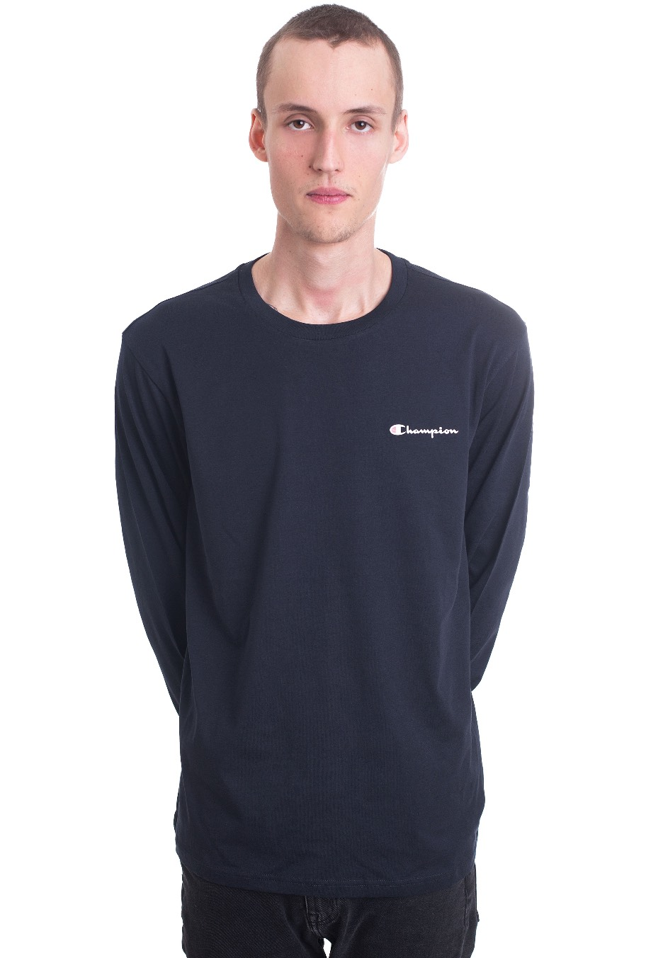 fe28af78 Champion - Long Sleeve T-Shirt New Navy - Longsleeve - Streetwear Shop -  Impericon.com UK