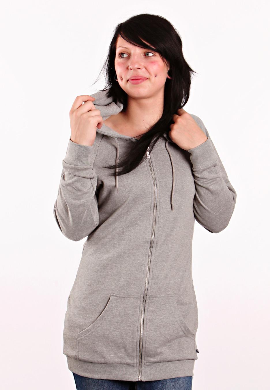 cheap monday basic long grey melange sweat zipp capuche femme fr. Black Bedroom Furniture Sets. Home Design Ideas