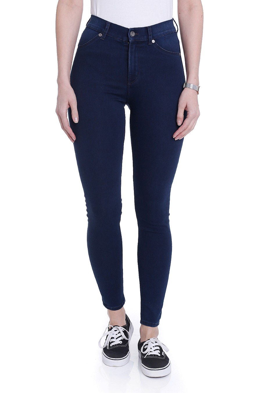 91a2df02fdae Cheap Monday - High Spray Solid Blue - Jeggings - Impericon.com UK