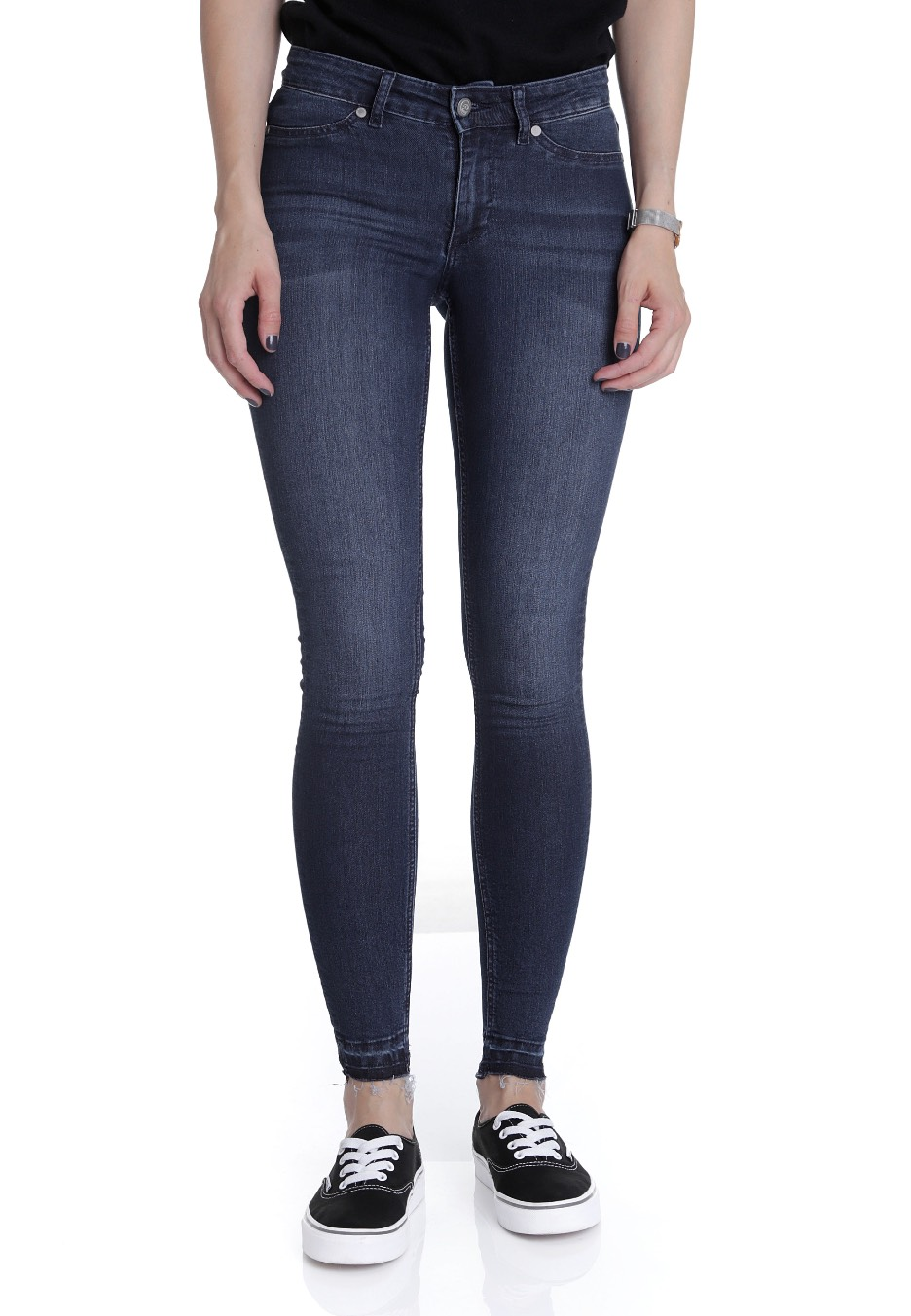 Cheap Monday - Mid Spray Fall Blue - Jeggings