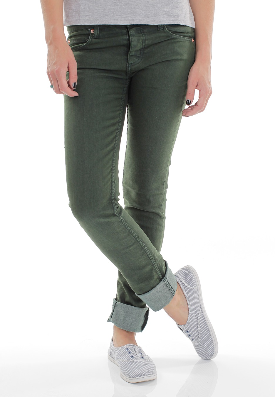 Cheap Monday - Narrow Dark Green - Jeans - Impericon.com Worldwide