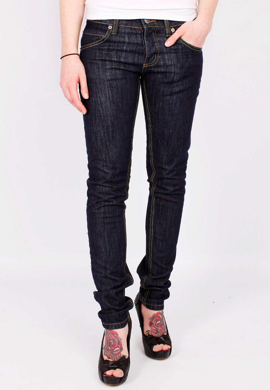 Cheap Monday - Narrow Denim Wash - Girl Jeans - Impericon.com UK