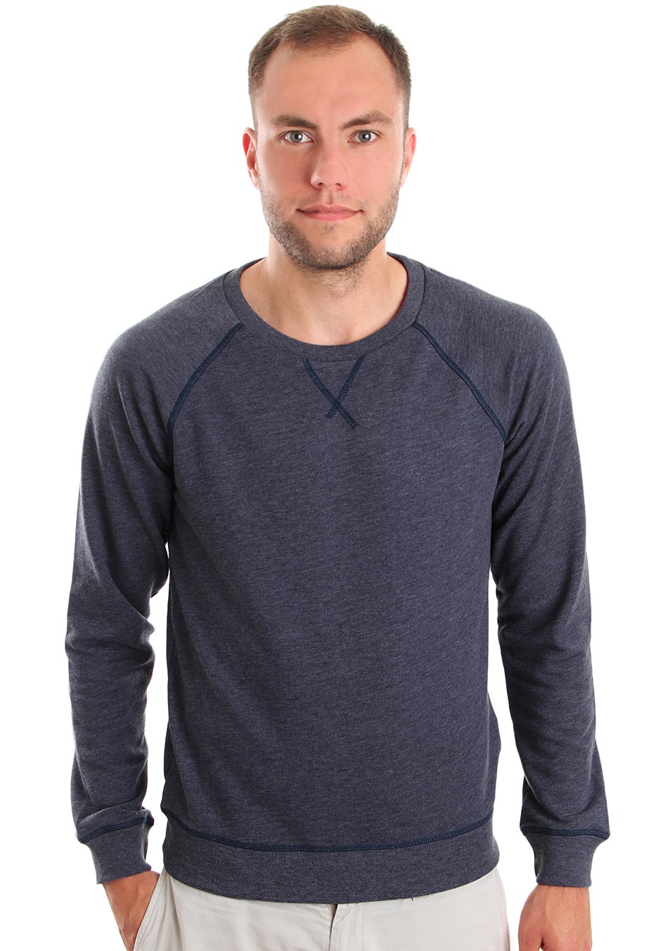 Cheap Monday - Neil Dark Blue Melange - Sweater - Impericon.com ...