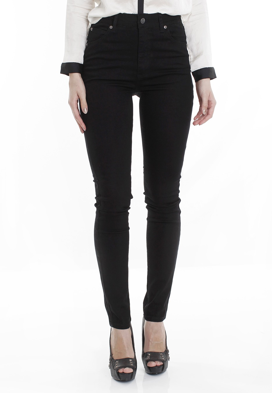 Cheap Monday - Second Skin Very Stretch Black - Jeans - Impericon