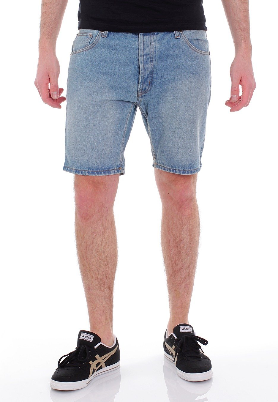 Cheap Monday - Short Five Mid Standard Blue - Shorts - Impericon ...