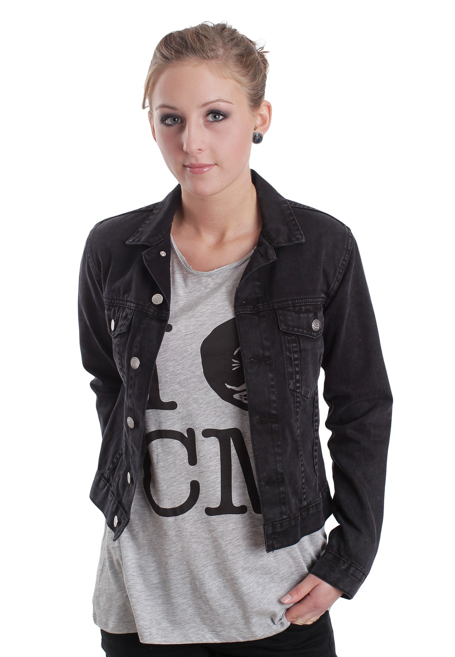 Buy low price, high quality girl black denim jacket with worldwide shipping on tennesseemyblogw0.cf