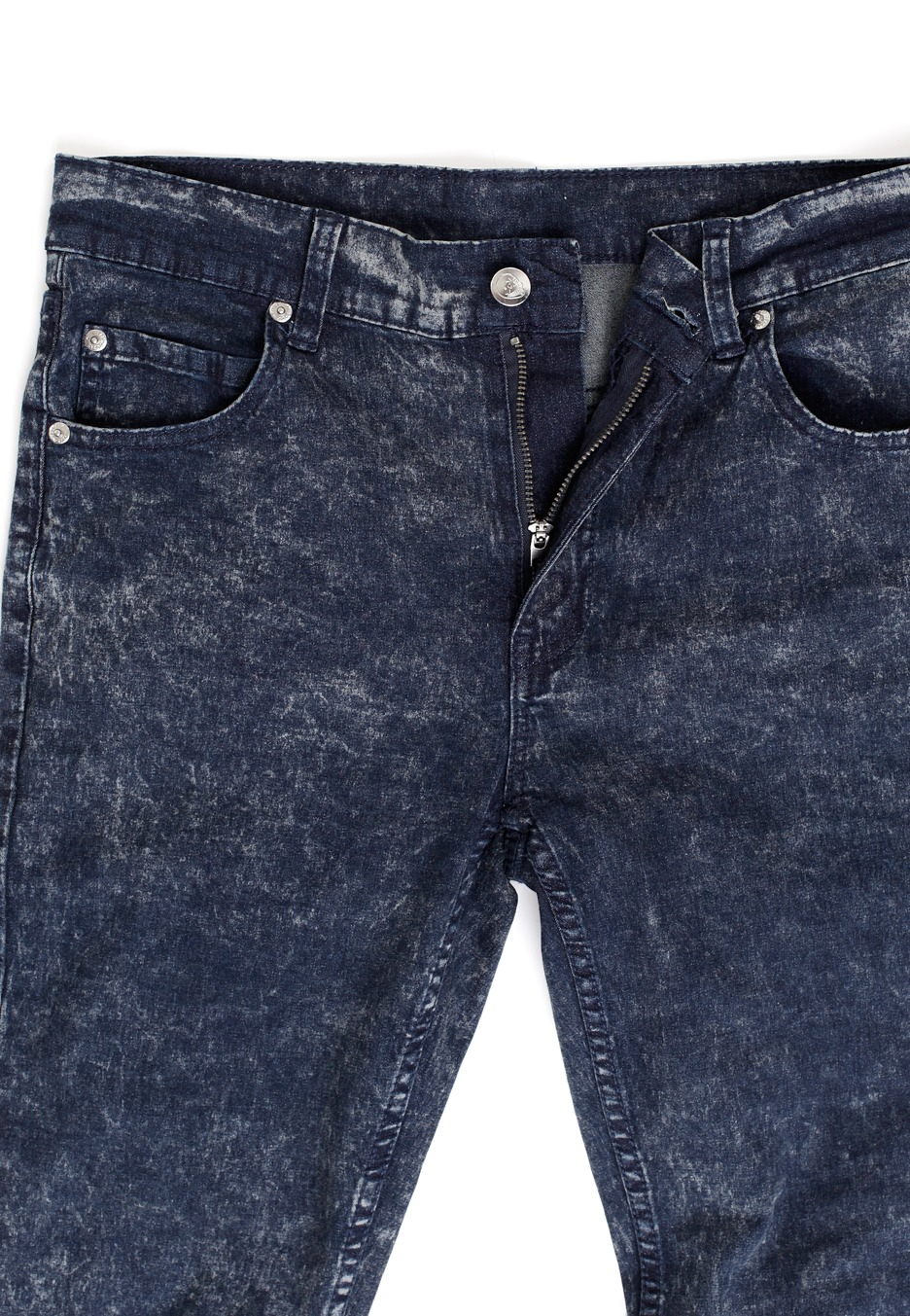 cheap monday tight blue trashed ice jeans impericon. Black Bedroom Furniture Sets. Home Design Ideas
