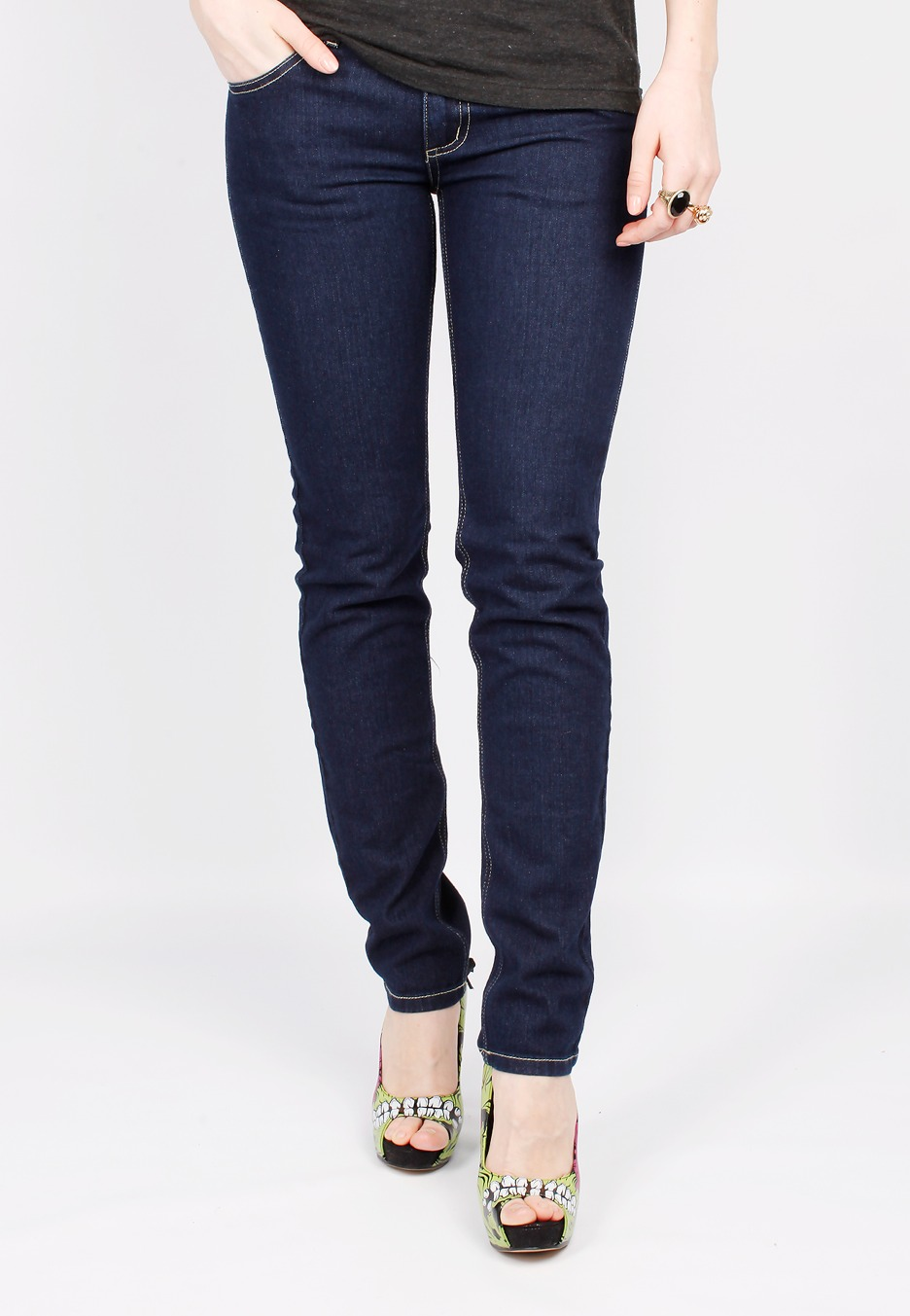 Cheap Monday - Zip Low Dark Blue - Girl Jeans - Impericon.com UK