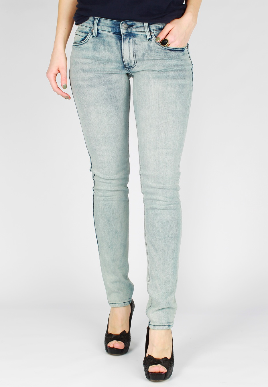 Cheap Monday - Zip Low Tonki Bleached - Girl Jeans - Impericon.com ...