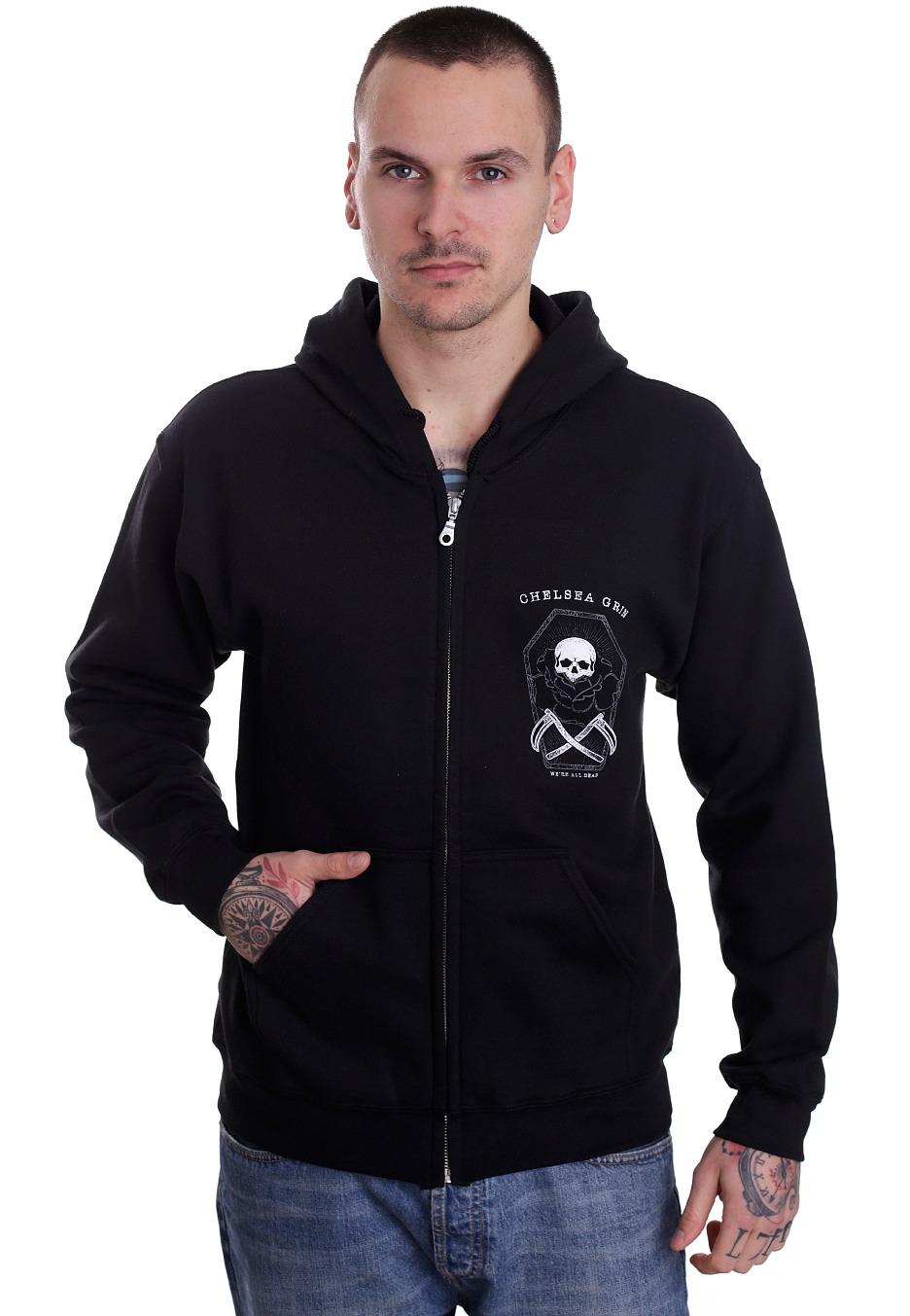 chelsea grin coffin zipper official deathcore merchandise shop uk. Black Bedroom Furniture Sets. Home Design Ideas