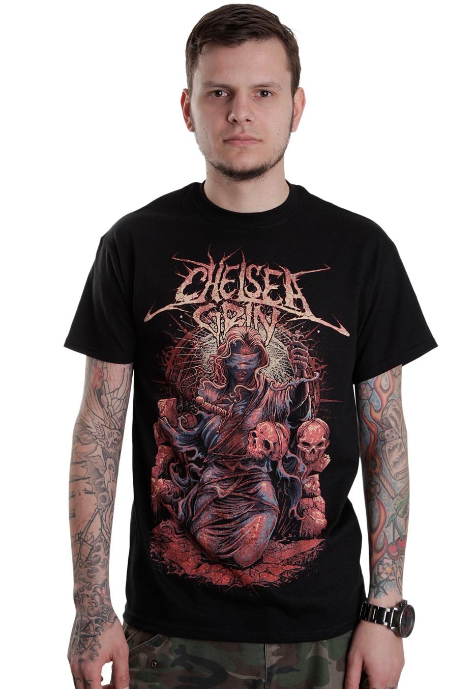 chelsea grin justice t shirt official deathcore merchandise shop uk