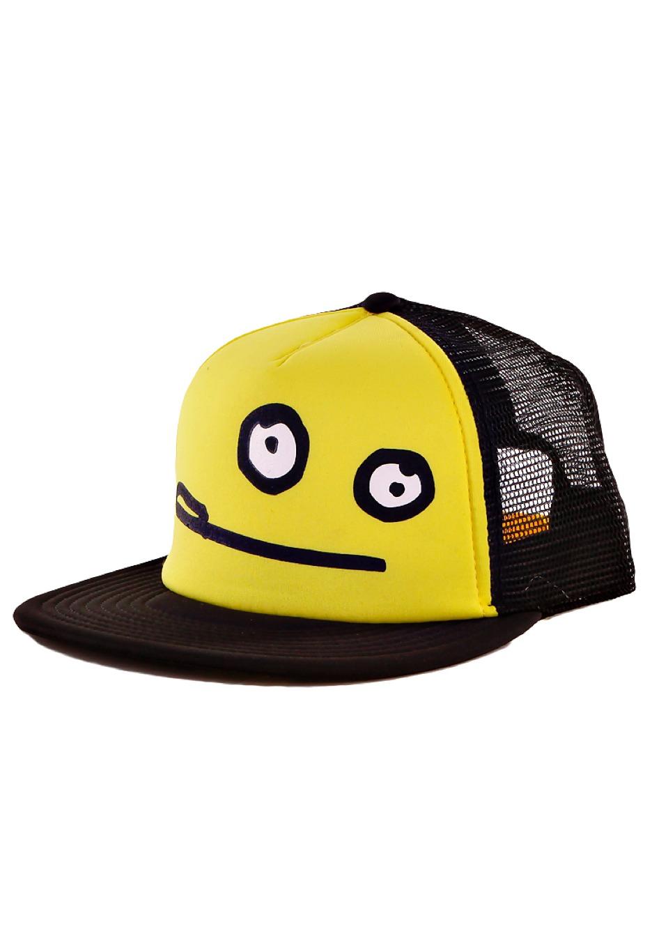 02712cb2346 Cleptomanicx - Smile Zitrone Black Yellow - Trucker Cap - Impericon.com AU