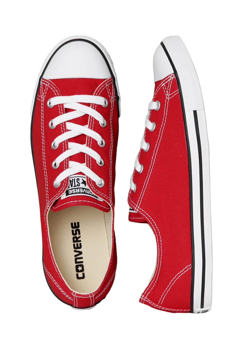 converse for girls low top red