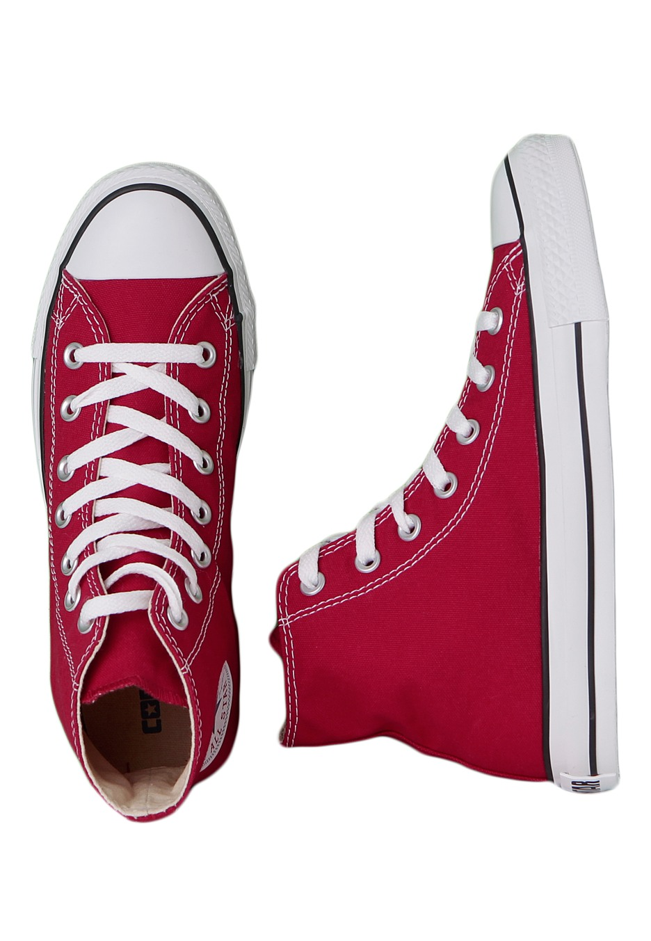 Converse Chuck Taylor All Star HI Red Girl Shoes