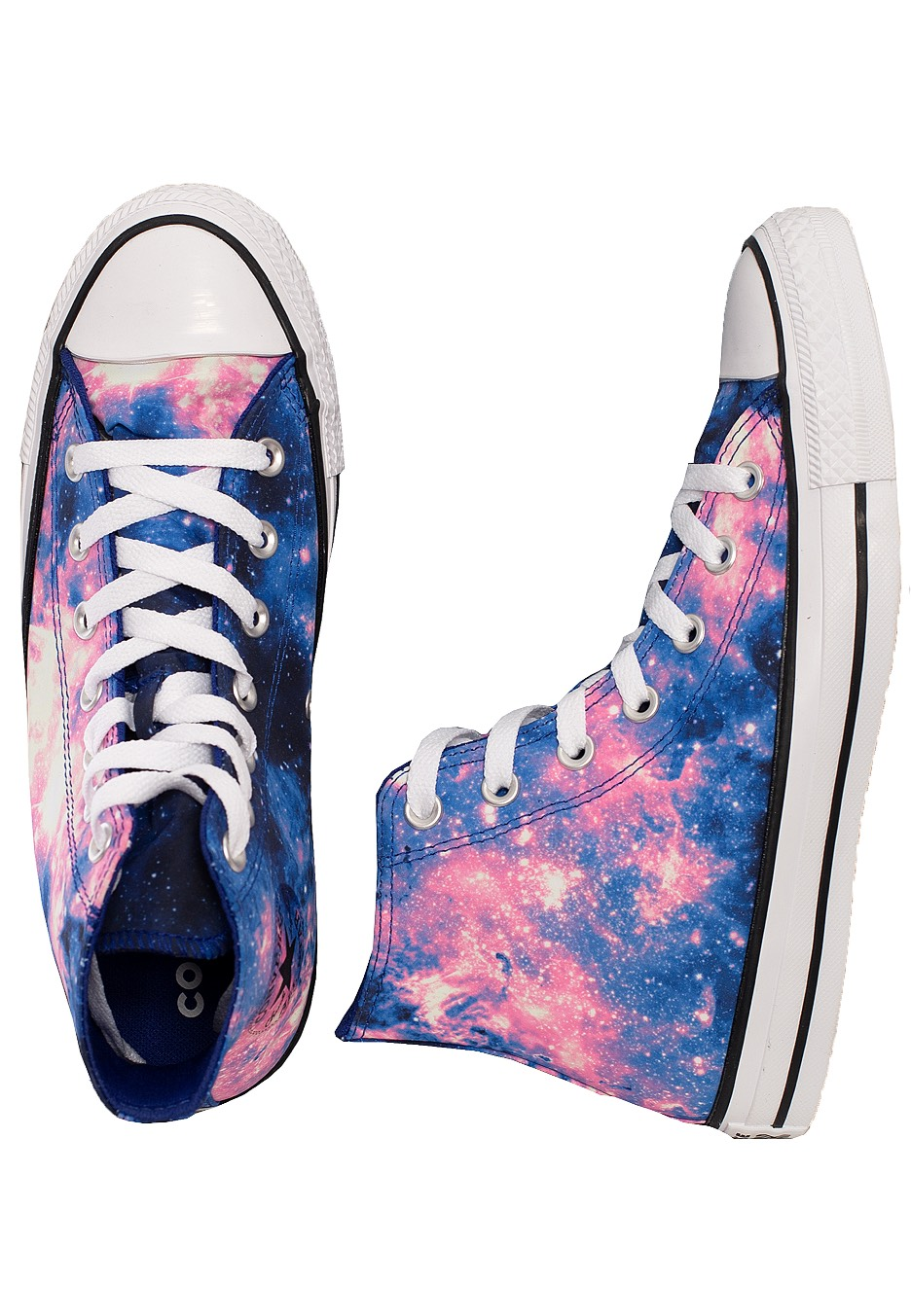 Converse Chuck Taylor All Star Miss Galaxy Hi Lapis BlueBlackBarely Rose Girl Shoes