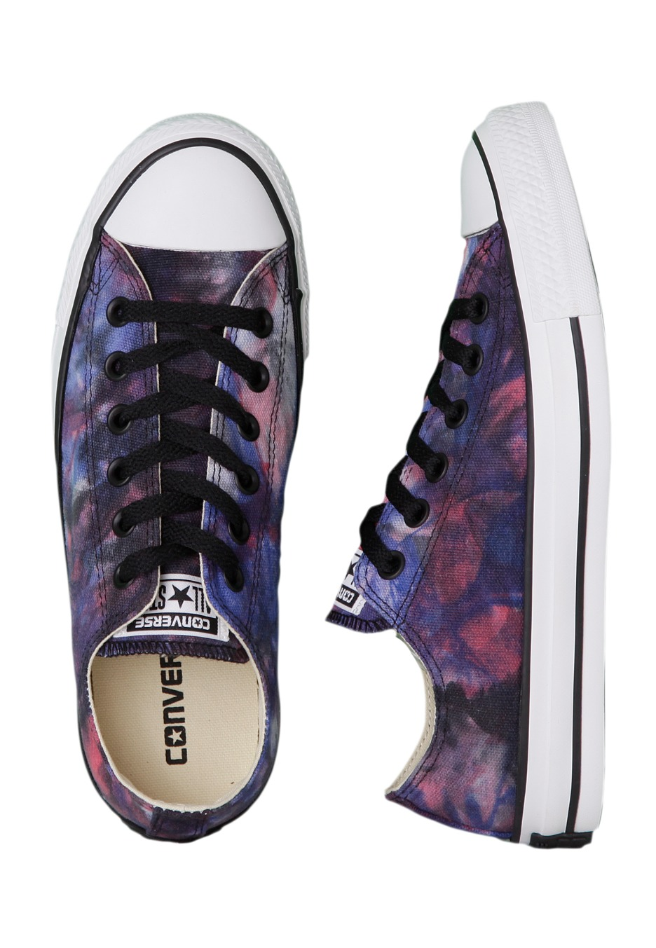 c357baa9b478 Converse - All Star Tie Dye Ox Red Radio Blue Black - Girl Shoes -  Impericon.com UK