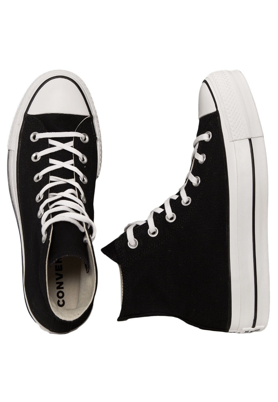 Converse Chuck Taylor All Star Lift Hi BlackWhiteWhiteBlack Girl Shoes