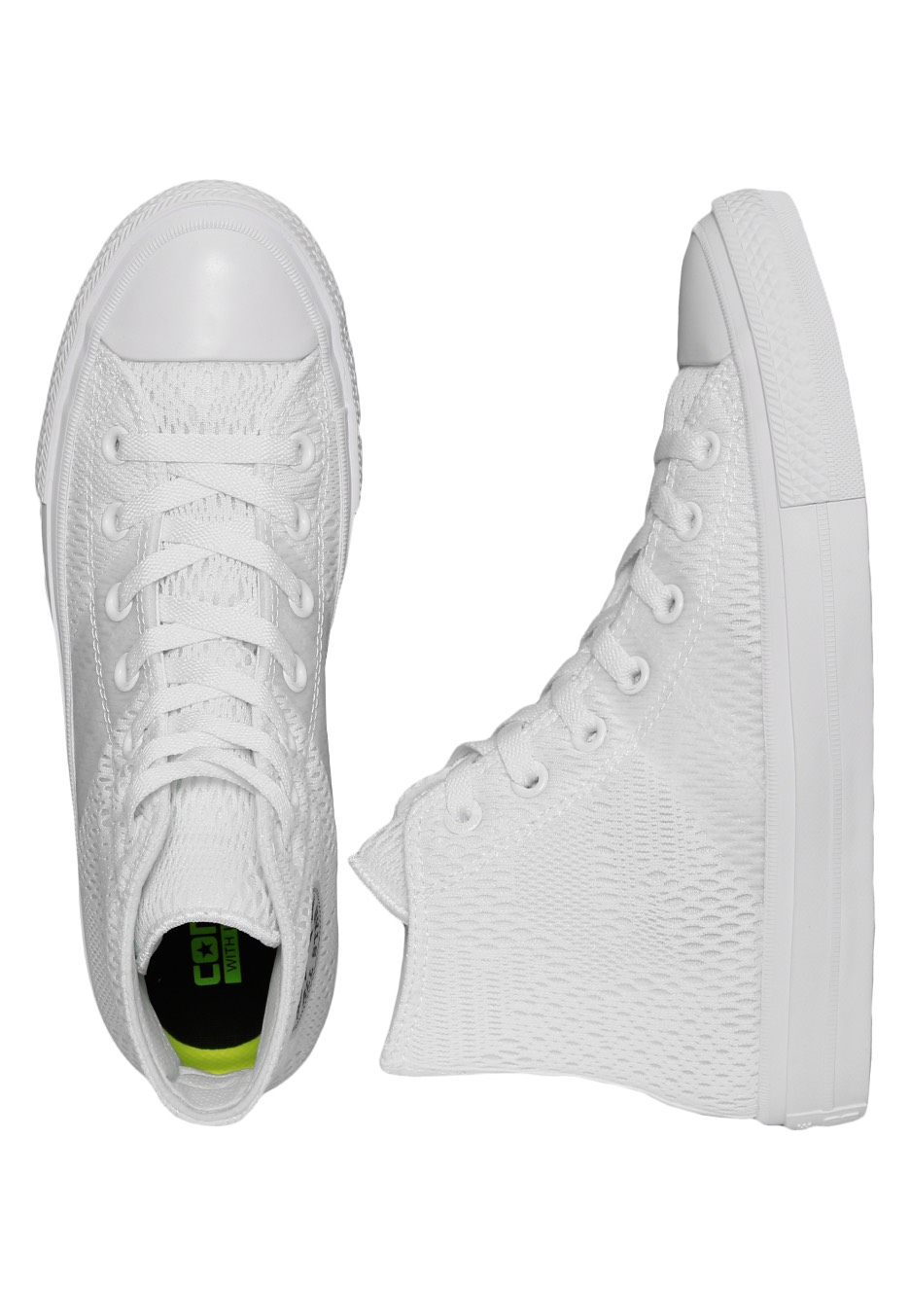 Converse - Chuck Taylor All Star II Engineered Mesh Optical White - Girl  Shoes - Impericon.com UK 10680f6386a