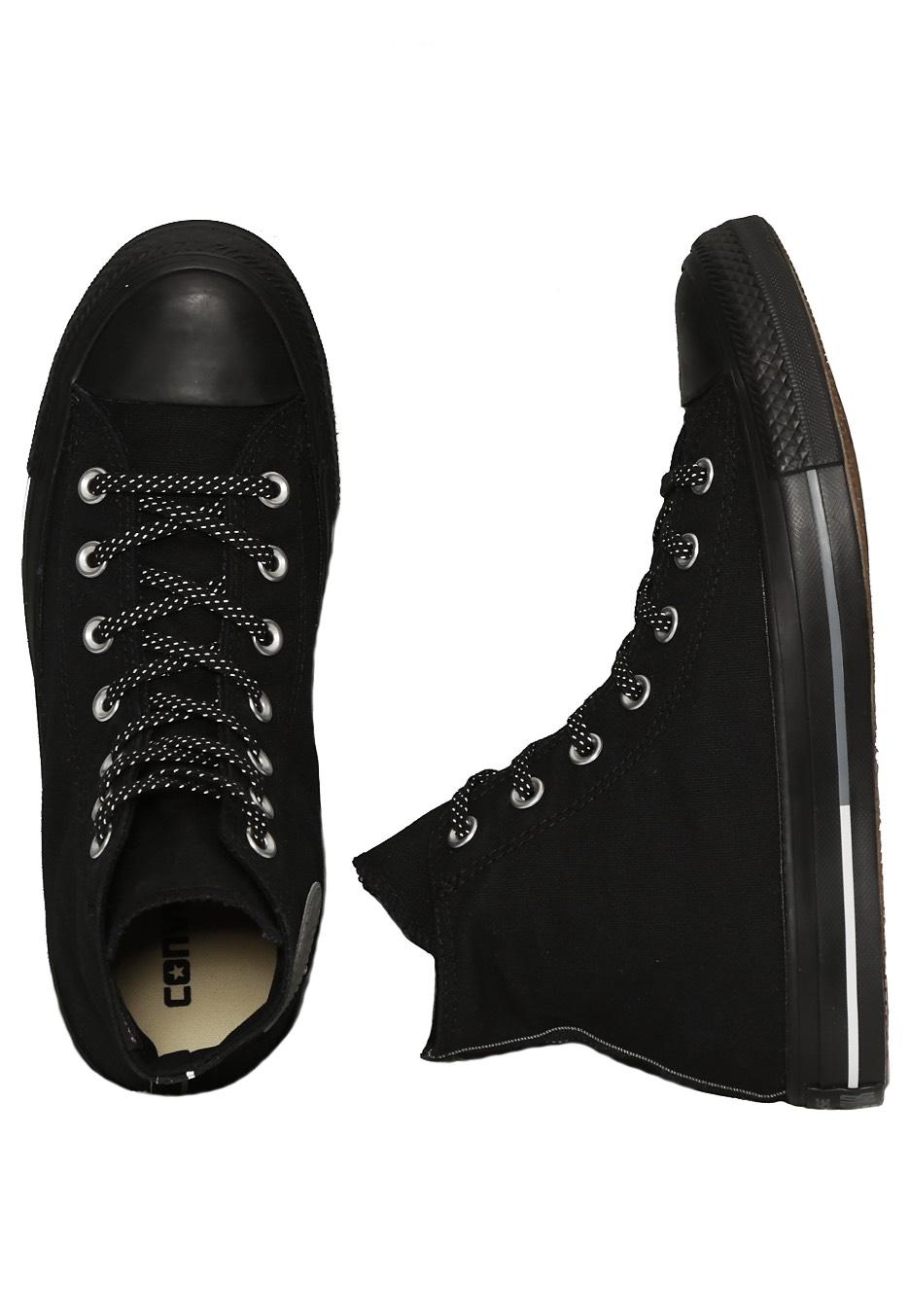 01c50778cf4ebf Converse - Chuck Taylor All Star Shield Canvas Hi Black White Manson - Girl  Shoes - Impericon.com UK
