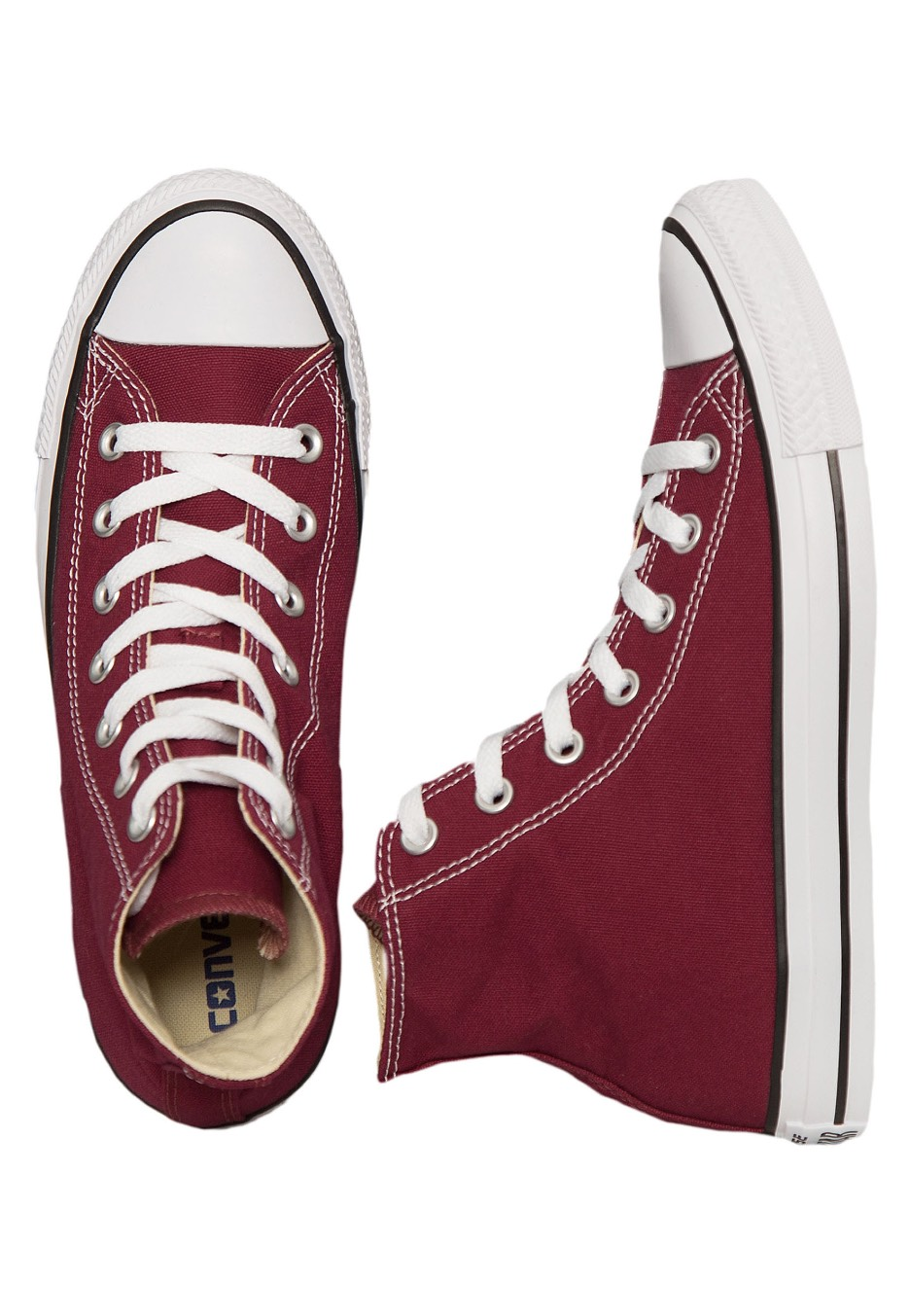 e25915679f31 Converse - Chuck Taylor All Star Hi Maroon - Girl Shoes - Impericon.com UK