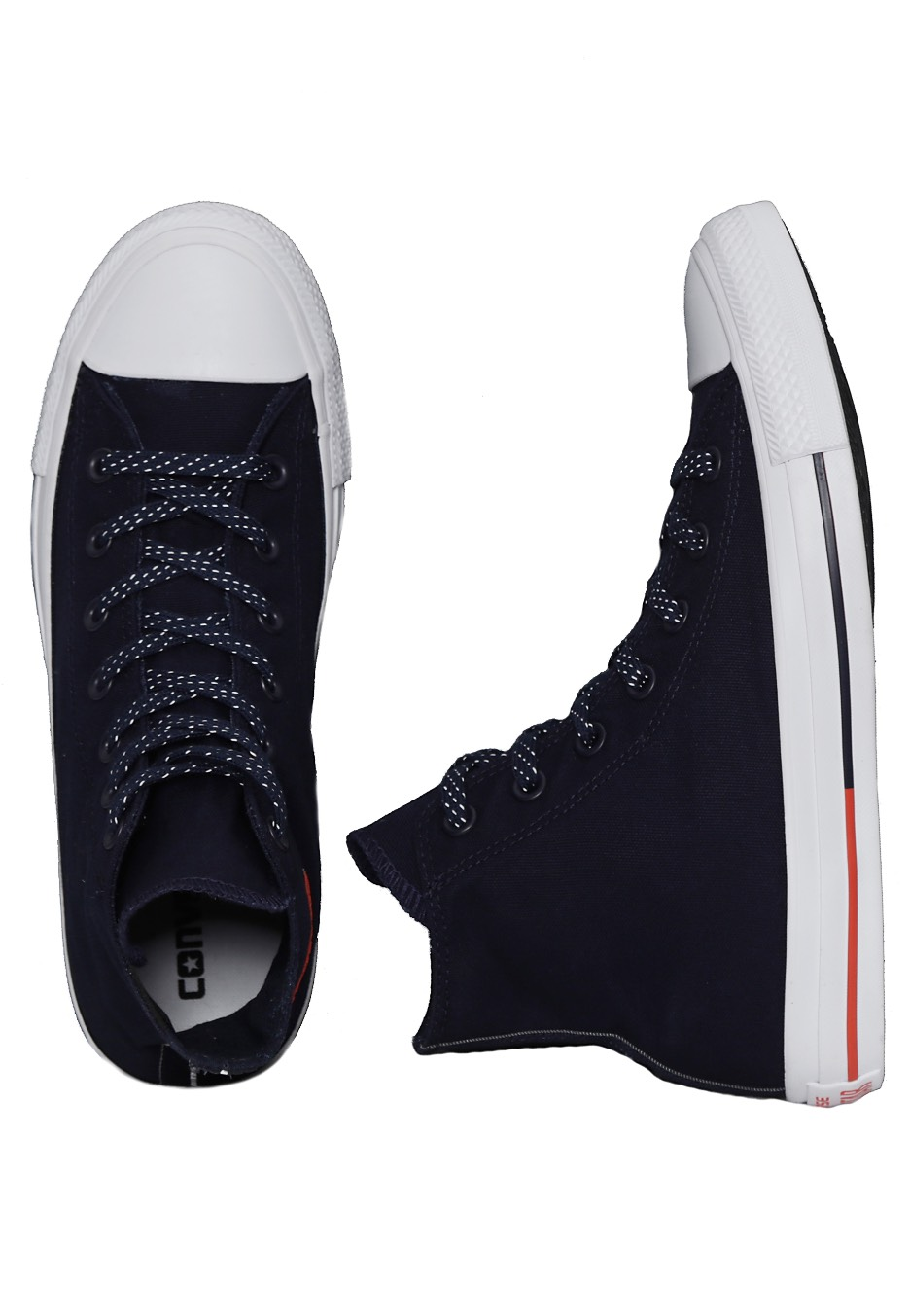 95982461f789 Converse - Chuck Taylor All Star Hi Obsidian White Signal Red - Girl Shoes  - Impericon.com UK