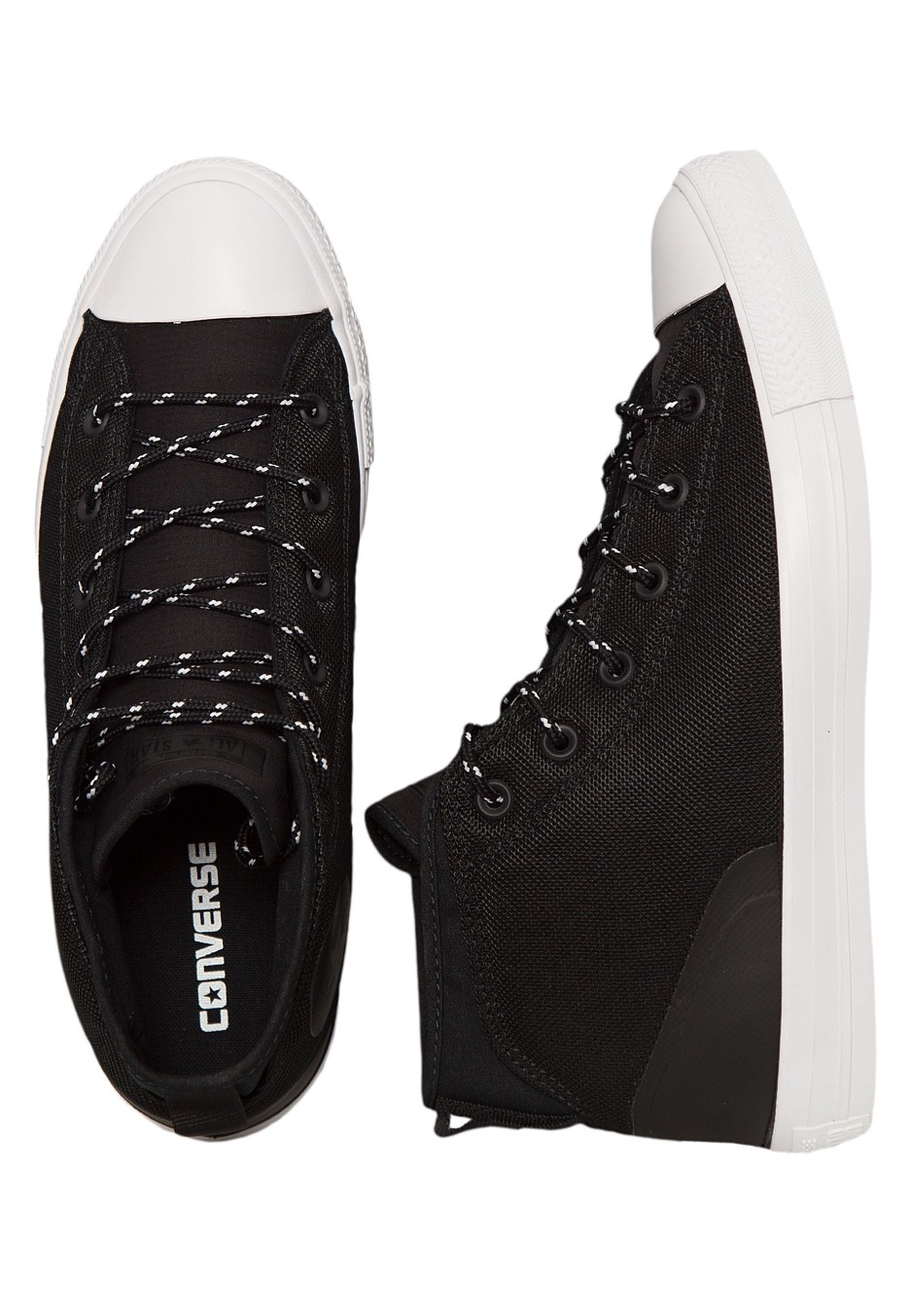 17b877ba3cf Converse - Chuck Taylor All Star Syde Street Mid Black Black White - Shoes  - Impericon.com UK