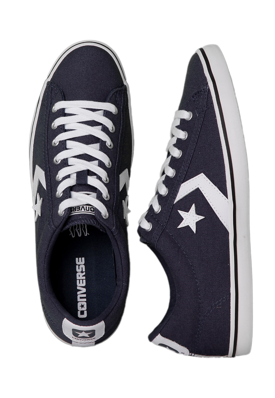 8fde6cdd6a5a Converse - Star Player LP Ox Navy White - Shoes - Impericon.com UK