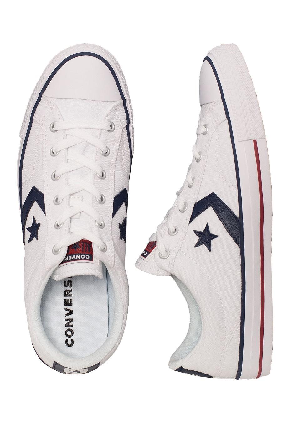 Converse Star Player Ox WhiteNavy Schuhe