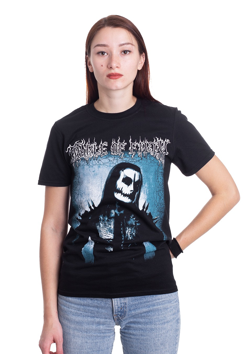 Cradle Of Filth T Shirt Yours Immortally Band Logo Official Mens Black