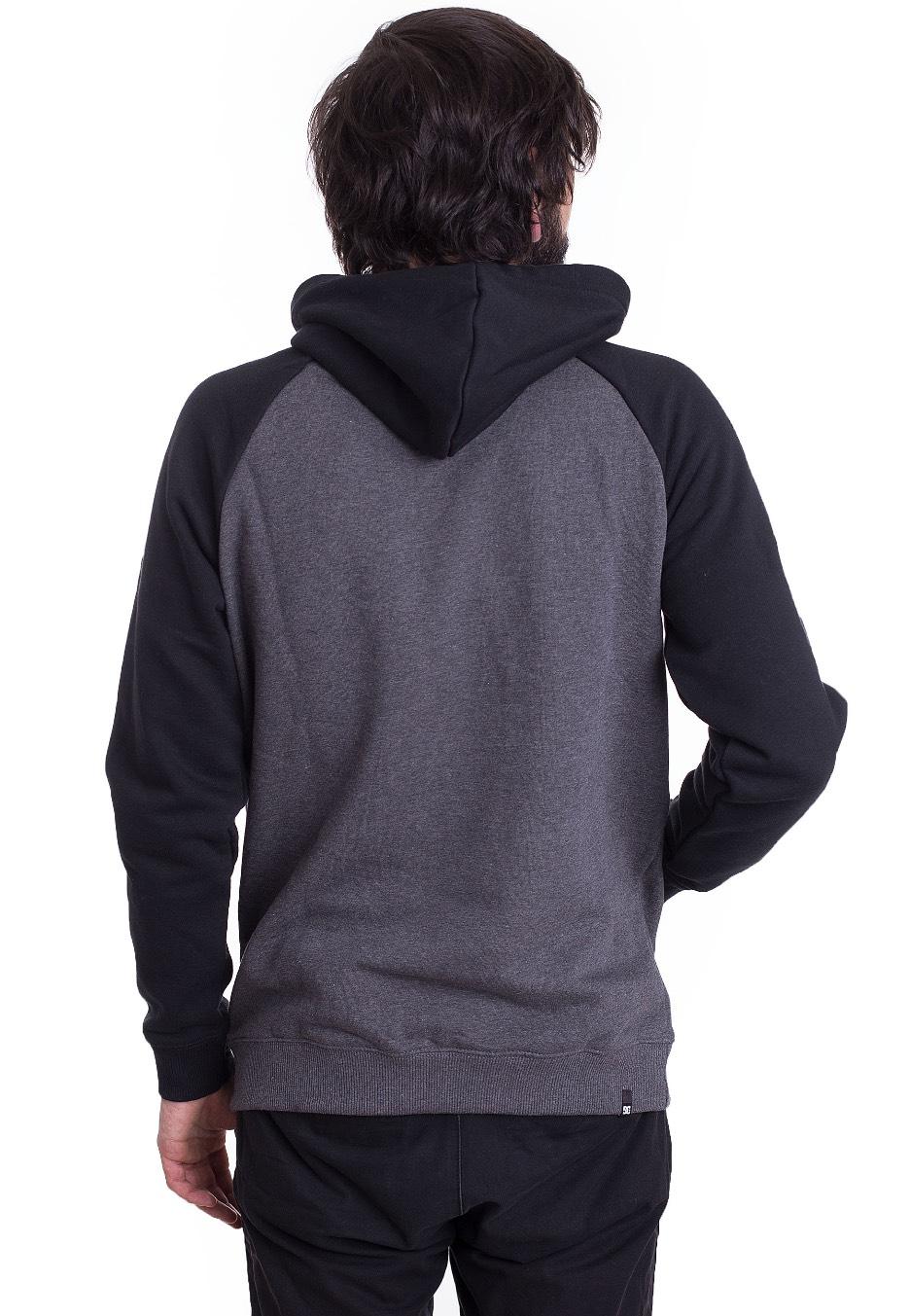 DC - Circle Star Raglan Black Charcoal Heather - Hoodie - Streetwear ... 6cda9a2078