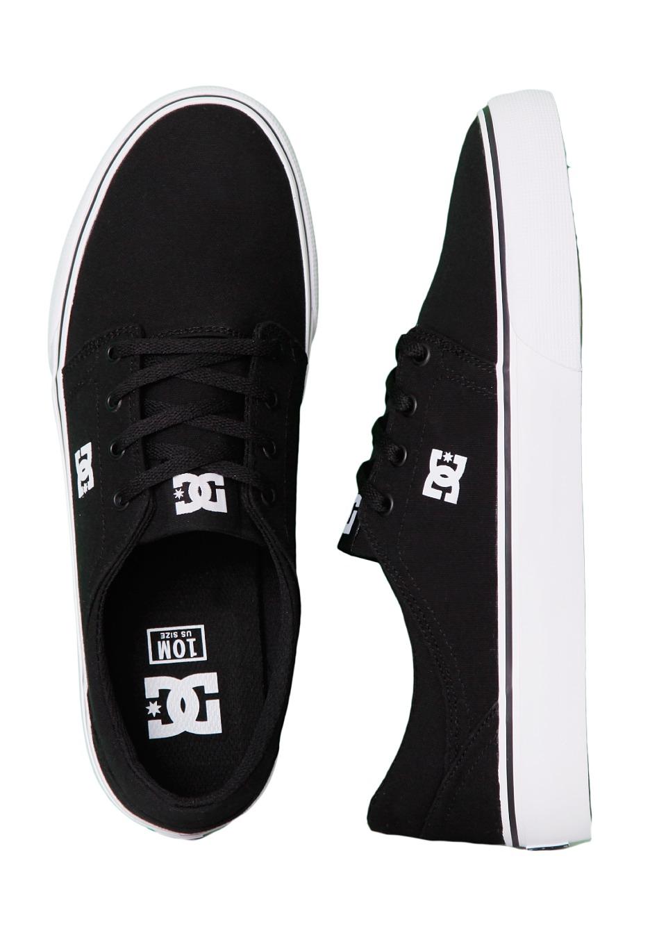 DC - Trase TX Black/White - Shoes