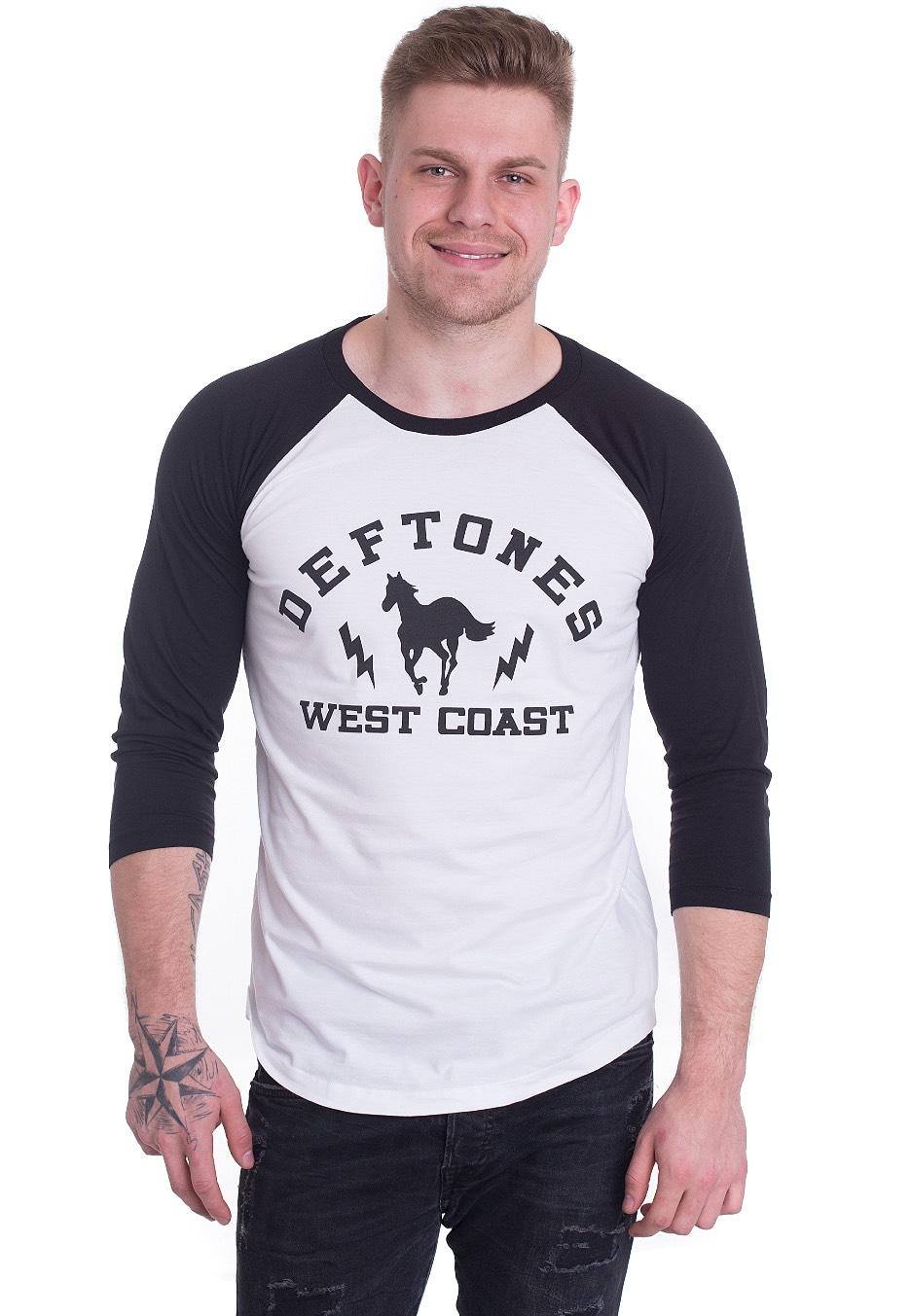 Deftones - West Coast Pony White/Black - Longsl...