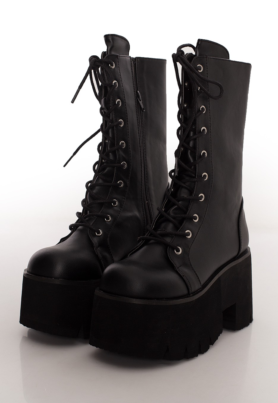 Demonia - Ashes 105 Chunky Heel Black