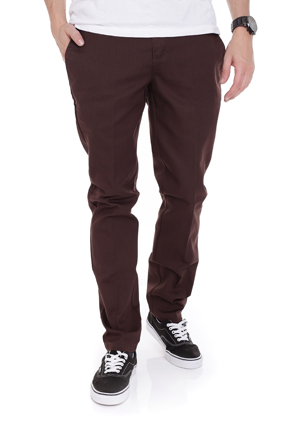 fashionable style search for authentic discover latest trends Dickies - Slim Fit Work 872 Chocolate Brown - Pants